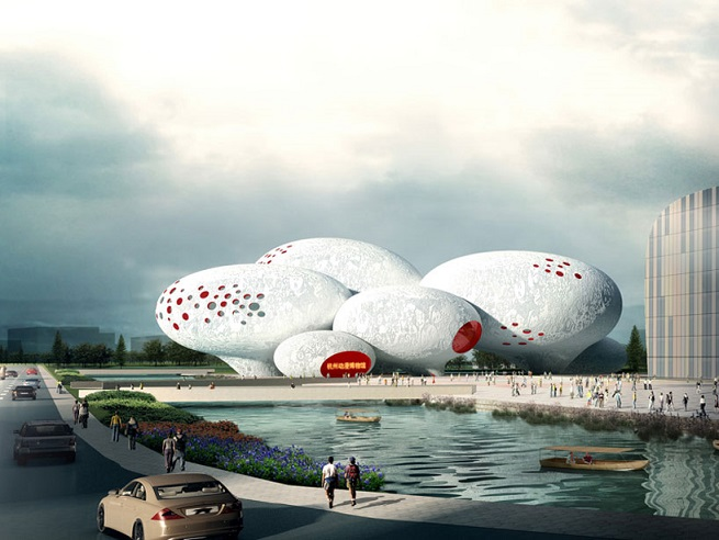 mvrdv china comic and animation museum
